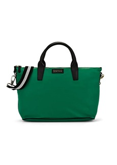 Barneys New York Women's Monica Leather-Trimmed Satchel - Green