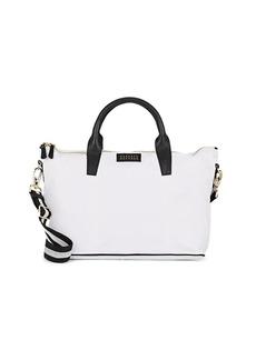 Barneys New York Women's Monica Leather-Trimmed Satchel - White