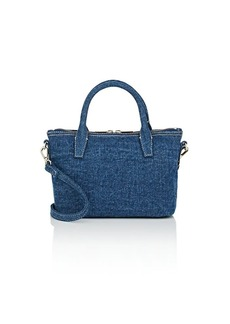 Barneys New York Women's Monica Mini Denim Satchel - Blue