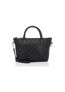 Barneys New York Women's Monica Mini Leather Crossbody Bag - Black