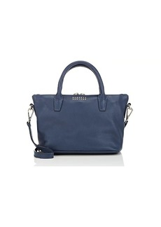 Barneys New York Women's Monica Mini Leather Crossbody Bag - Blue