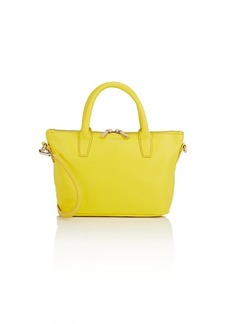 Barneys New York Women's Monica Mini Leather Satchel - Yellow