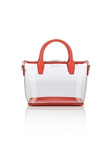 Barneys New York Women's Monica Mini Leather-Trimmed Clear Crossbody Satchel - Red