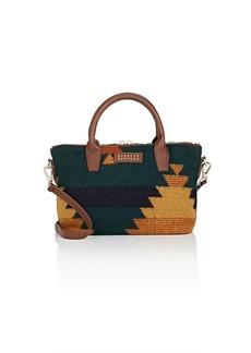 Barneys New York Women's Monica Mini Leather-Trimmed Satchel - Green