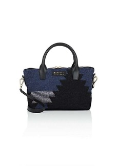 Barneys New York Women's Monica Mini Leather-Trimmed Satchel - Navy