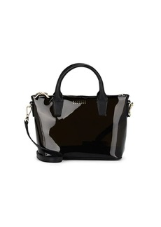 Barneys New York Women's Monica Mini PVC Crossbody Satchel - Black