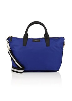 Barneys New York Women's Monica Tech-Twill Satchel - Blue