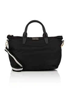Barneys New York Women's Monica Tech-Twill Satchel - Black