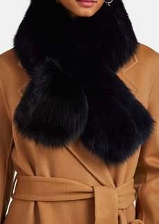Barneys New York Women's Ombré Fox Fur Pull-Through Scarf - Blue