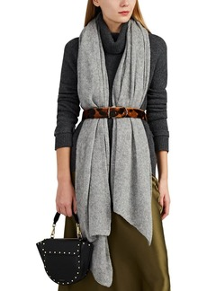 Barneys New York Women's Open-Knit Mélange Cashmere-Silk Scarf - Gray