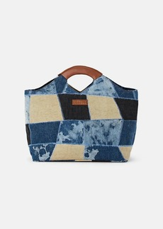 Barneys New York Women's Patchwork Tote Bag - Blue