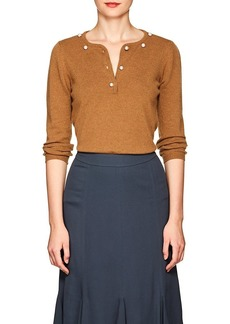 Barneys New York Women's Pearl-Embellished Cashmere Sweater