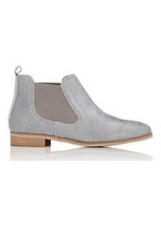 Barneys New York Women's Perforated Leather Chelsea Boots