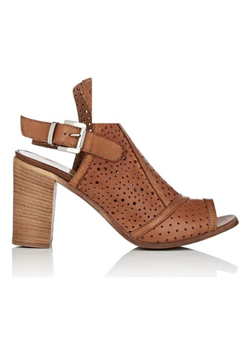 Barneys New York Women's Perforated Leather Slingback Sandals