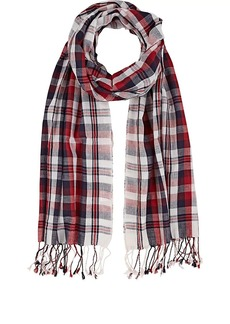 Barneys New York Women's Plaid Cotton Scarf