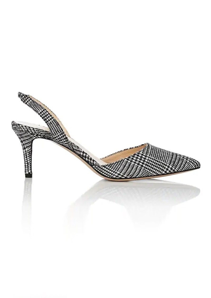 Barneys New York Women's Plaid Wool Slingback Pumps