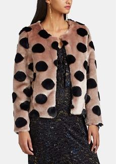 Barneys New York Women's Polka Dot Faux-Fur Crop Jacket