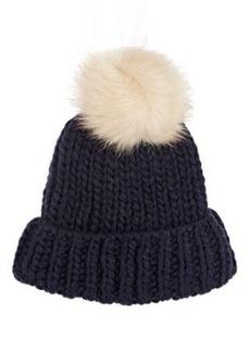 Barneys New York Women's Pom-Pom Embellished Hat