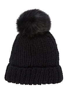 Barneys New York Women's Pom-Pom-Embellished Hat - Black