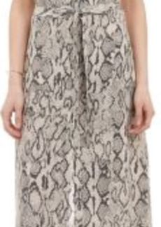 Barneys New York Women's Python-Print Long Sleeveless Shirtdress