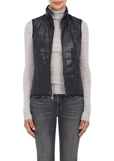 Barneys New York Women's Quilted Faux-Leather Vest