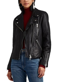 Barneys New York Women's Quilted Leather Moto Jacket