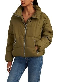 Barneys New York Women's Quilted Tech-Fabric Crop Puffer Jacket
