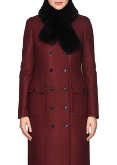 Barneys New York Women's Rabbit Fur Pull-Through Scarf - Black