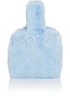 Barneys New York Women's Rabbit Fur Wristlet Bucket Bag - Blue