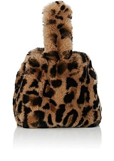 Barneys New York Women's Rabbit Fur Wristlet Bucket Bag - Brown Pat.