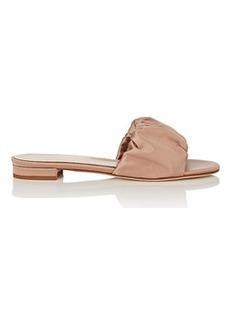 Barneys New York Women's Ruched Satin Slide Sandals