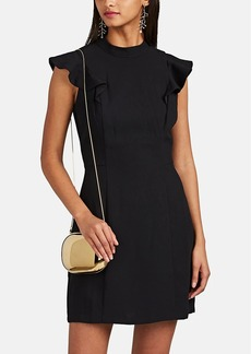 Barneys New York Women's Ruffle Crepe Dress
