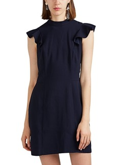 Barneys New York Women's Ruffle-Trimmed Crepe Sheath Dress