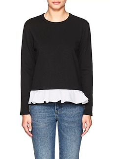Barneys New York Women's Ruffle-Trimmed Ponte-Knit Sweater
