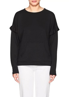 Barneys New York Women's Ruffled-Shoulder Fleece Sweater
