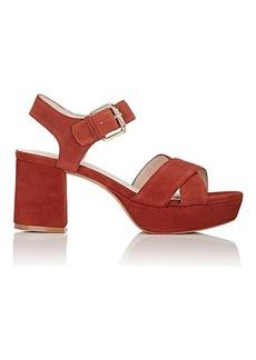 Barneys New York Women's Sandra Suede Platform Sandals