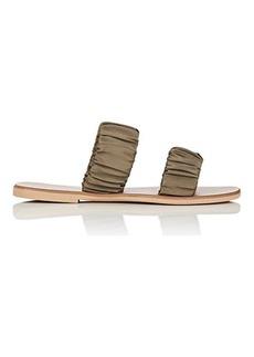 Barneys New York Women's Satin Double-Band Sandals