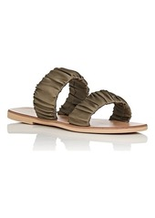 Barneys New York Women's Satin Double-Band Sandals