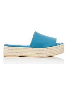 Barneys New York Women's Satin Espadrille Slide Sandals