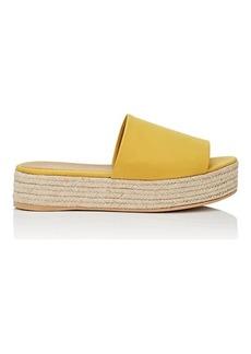 Barneys New York Women's Satin Espadrille Slide Sandals