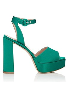 Barneys New York Women's Satin Platform Ankle-Strap Sandals