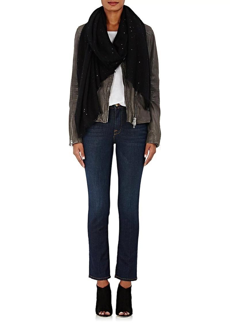 Barneys New York Women's Sequin-Embellished Cashmere Gauze Scarf - Black