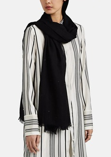 Barneys New York Women's Sequined Cashmere Scarf - Black