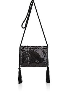 Barneys New York Women's Sequined Strap Wallet - Black