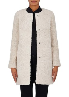 Barneys New York Women's Shearling Cocoon Coat