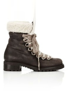 Barneys New York Women's Shearling-Lined Garnet Ankle Boots