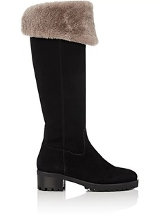 Barneys New York Women's Shearling-Lined Over-The-Knee Boots