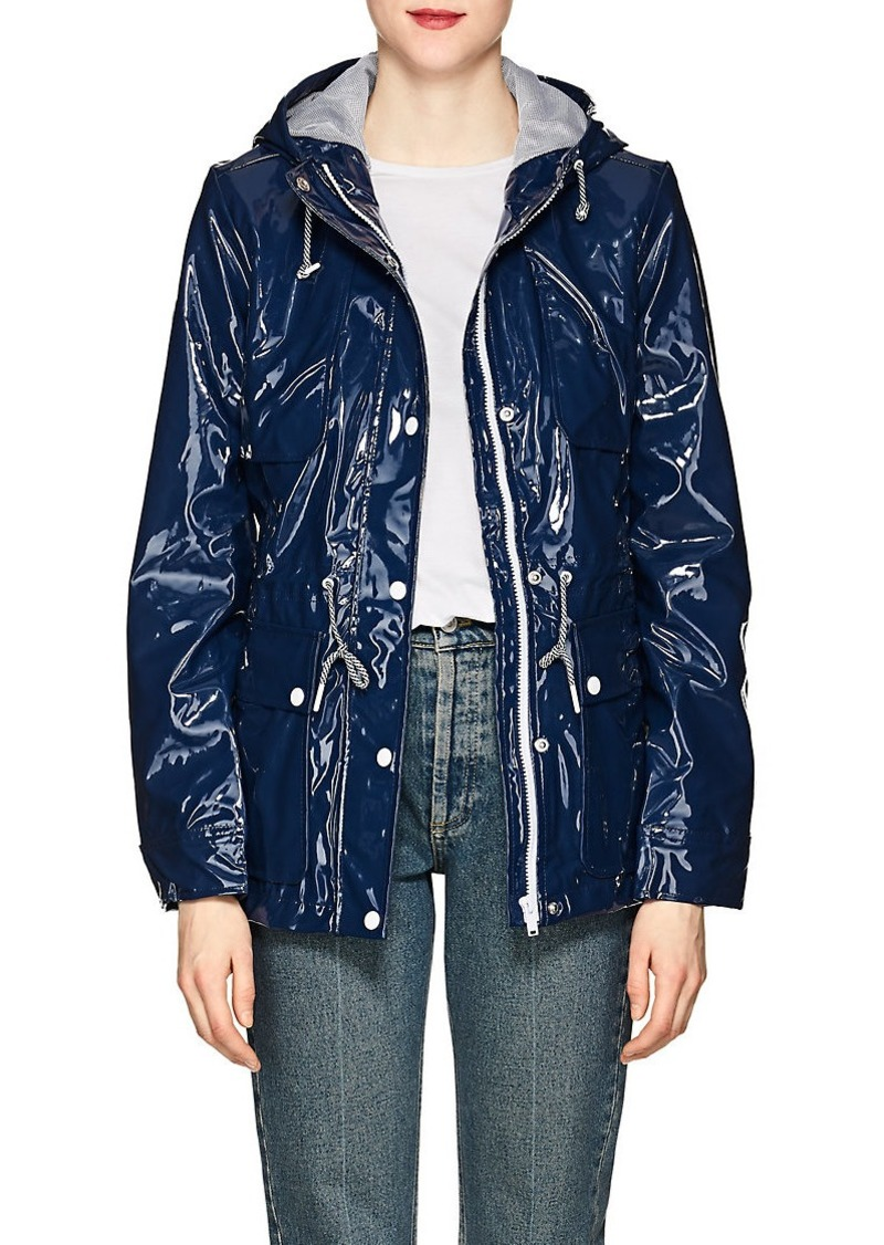 fast color reasonable price select for best Women's Shiny Hooded Raincoat