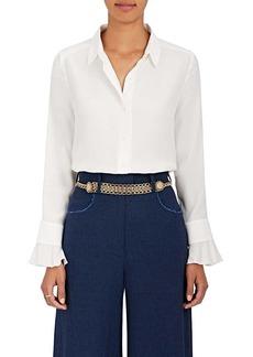 Barneys New York Women's Silk Satin-Back Crepe Blouse
