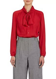 Barneys New York Women's Silk Tieneck Blouse